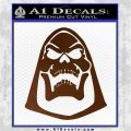 Skeletor Decal Sticker He Man D2 Brown Vinyl 120x120