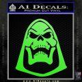 Skeletor Decal Sticker He Man D2 Lime Green Vinyl 120x120