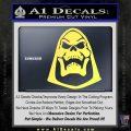 Skeletor Decal Sticker He Man D2 Yelllow Vinyl 120x120