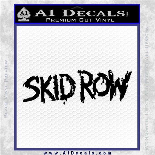 Skid Row Rock Band Vinyl Decal Sticker Black Logo Emblem