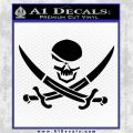 Skull and Cross Bones Decal Sticker Black Logo Emblem 120x120