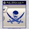 Skull and Cross Bones Decal Sticker Blue Vinyl 120x120