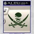Skull and Cross Bones Decal Sticker Dark Green Vinyl 120x120