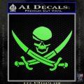 Skull and Cross Bones Decal Sticker Lime Green Vinyl 120x120