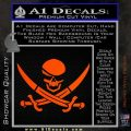 Skull and Cross Bones Decal Sticker Orange Vinyl Emblem 120x120