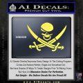 Skull and Cross Bones Decal Sticker Yelllow Vinyl 120x120