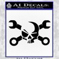 Skull and Wrenches D3 Decal Sticker Crossbones Black Logo Emblem 120x120