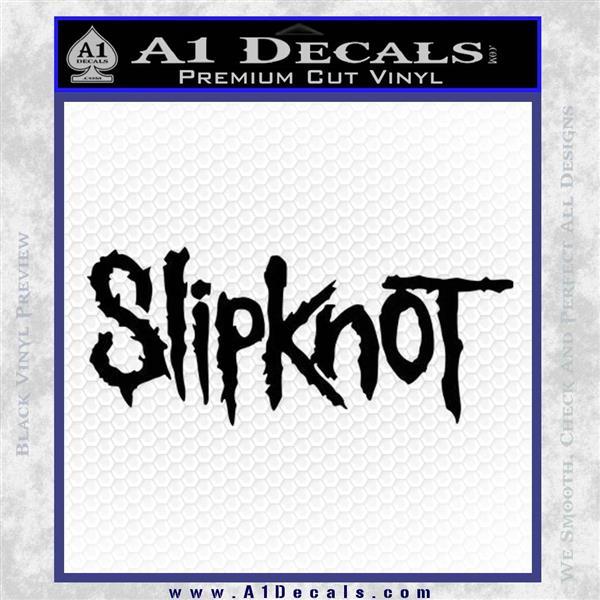 Slipknot Rock Band Vinyl Decal Sticker TXTS Black Logo Emblem