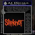 Slipknot Rock Band Vinyl Decal Sticker TXTS Orange Vinyl Emblem 120x120
