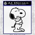 Snoopy and Woodstock Hug Decal Sticker Black Logo Emblem 120x120