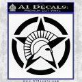 Spartan Ammo Star D2 Decal Sticker Black Logo Emblem 120x120
