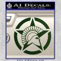 Spartan Ammo Star D2 Decal Sticker Dark Green Vinyl 120x120