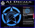 Spartan Ammo Star D2 Decal Sticker Light Blue Vinyl 120x97