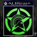 Spartan Ammo Star D2 Decal Sticker Lime Green Vinyl 120x120