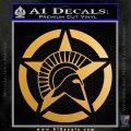 Spartan Ammo Star D2 Decal Sticker Metallic Gold Vinyl 120x120