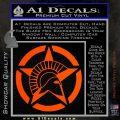 Spartan Ammo Star D2 Decal Sticker Orange Vinyl Emblem 120x120
