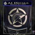 Spartan Ammo Star D2 Decal Sticker Silver Vinyl 120x120