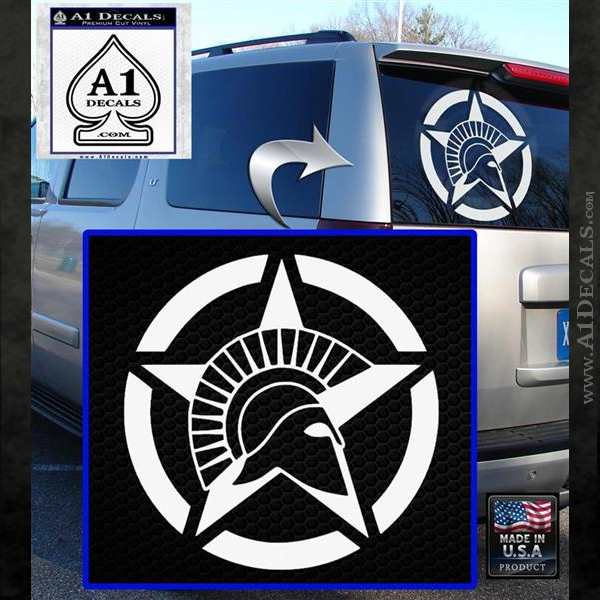 Spartan Ammo Star D2 Decal Sticker White Emblem