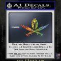 Spartan Crossbones Decal Sticker Sparkle Glitter Vinyl 120x120