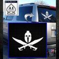Spartan Crossbones Decal Sticker White Emblem 120x120
