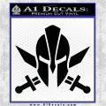 Spartan Crossed Swords D9 Decal Sticker Black Logo Emblem 120x120