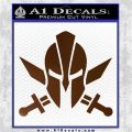 Spartan Crossed Swords D9 Decal Sticker Brown Vinyl 120x120