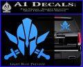 Spartan Crossed Swords D9 Decal Sticker Light Blue Vinyl 120x97