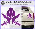 Spartan Crossed Swords D9 Decal Sticker Purple Vinyl 120x97
