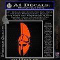 Spartan Decal Sticker D5 Orange Vinyl Emblem 120x120