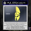 Spartan Decal Sticker D5 Yelllow Vinyl 120x120