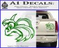 Spartan Fighter Decal Sticker SWSW Green Vinyl 120x97