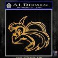 Spartan Fighter Decal Sticker SWSW Metallic Gold Vinyl Vinyl 120x120