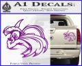 Spartan Fighter Decal Sticker SWSW Purple Vinyl 120x97