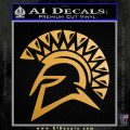 Spartan Helmet D13 Decal Sticker Metallic Gold Vinyl 120x120