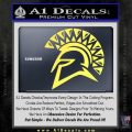 Spartan Helmet D13 Decal Sticker Yelllow Vinyl 120x120