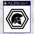 Spartan Helmet Hex Decal Sticker Molon Labe Black Logo Emblem 120x120