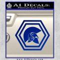 Spartan Helmet Hex Decal Sticker Molon Labe Blue Vinyl 120x120
