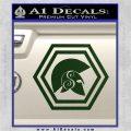 Spartan Helmet Hex Decal Sticker Molon Labe Dark Green Vinyl 120x120