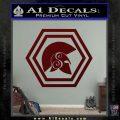 Spartan Helmet Hex Decal Sticker Molon Labe Dark Red Vinyl 120x120