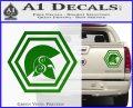Spartan Helmet Hex Decal Sticker Molon Labe Green Vinyl 120x97