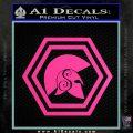 Spartan Helmet Hex Decal Sticker Molon Labe Hot Pink Vinyl 120x120