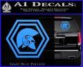 Spartan Helmet Hex Decal Sticker Molon Labe Light Blue Vinyl 120x97