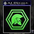 Spartan Helmet Hex Decal Sticker Molon Labe Lime Green Vinyl 120x120