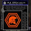 Spartan Helmet Hex Decal Sticker Molon Labe Orange Vinyl Emblem 120x120