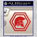 Spartan Helmet Hex Decal Sticker Molon Labe Red Vinyl 120x120