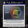 Spartan Helmet Hex Decal Sticker Molon Labe Sparkle Glitter Vinyl 120x120