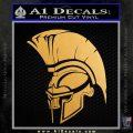 Spartan Helmet INT2 Decal Sticker Metallic Gold Vinyl 120x120