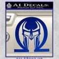 Spartan Omega Helmet Decal Sticker Blue Vinyl 120x120