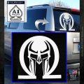 Spartan Omega Helmet Decal Sticker White Emblem 120x120
