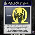 Spartan Omega Helmet Decal Sticker Yelllow Vinyl 120x120